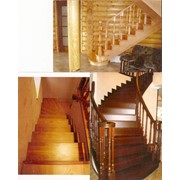 Маршевые лестницы из дерева для дома фото