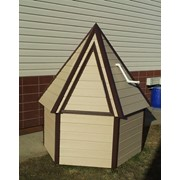 Домик для колодца Пирамидка шестигранная ДП-6 фото