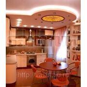 Ремонт кухни в Самаре. Перепланировка: совмещение кухни и гостиной. фото