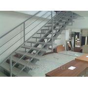 Лестница металлическая прямая фото