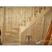 Лестница садовая, деревянная. фото
