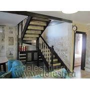 Лестница под рустик на заказ фото