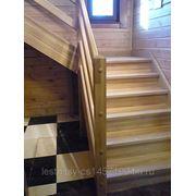 Лестница из дуба фото