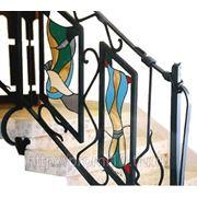 Витражи на лестницы фото