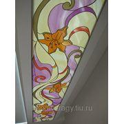 Витраж потолочный на акриловом светорассеивающем стекле фото
