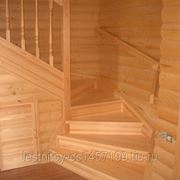 Комбинированная лестница фото