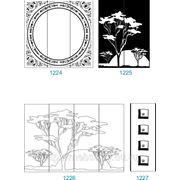 Пескоструйный рисунок на зеркале, стекле или ЛДСП 1224-1254 фото