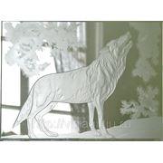 Сувенир «Волк» из стекла фото