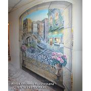 Художественная роспись стен в интерьерах фото