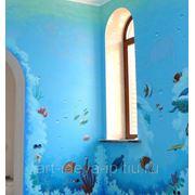 Художественная роспись стен, потолков. фото