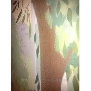 Роспись стены с лепными деталями фото