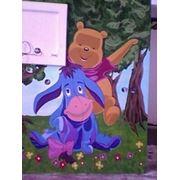 Роспись стен в детских комнатах фото