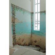 Роспись в частном доме на лестнице. Итальянско-португальский пейзаж фото