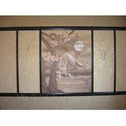 Роспись стены в кухне фото