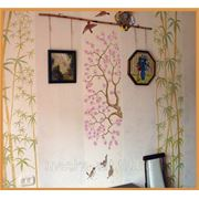 Роспись стен. Неполное покрытие поверхности\несложный рисунок фото