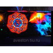 Флюоресцентная роспись стен, потолков, мебели фото