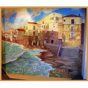 Роспись стен. Городской пейзаж фото