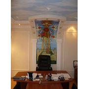Художественная роспись стен в кабинете руководителя фото