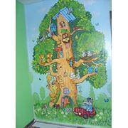 Роспись стены для детской фото