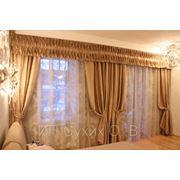 Дизайн, пошив штор, портьер, ламбрекенов, шабраков, римских, французких, японских штор фото