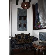 Текстильное оформление балкона фото