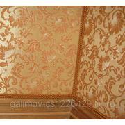 Драпировка стен тканью,художественное оформление фото
