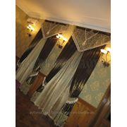 Авторский текстильный дизайн,пошив штор,установка карнизов,навеска штор фото