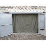 Штора в гараж из брезента 2,5х4 фото