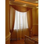 Шторы для спальни; ламбрекены; шторы