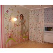 Шторы для детской; детская; римские шторы фото
