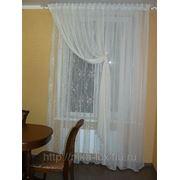 Комплект штор. Ткань итальянская сетка. фото