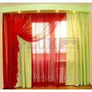 Яркие шторы для спальни от салона Эль Люкс фотография