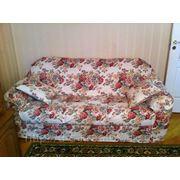 Чехол на диван с подушками фото
