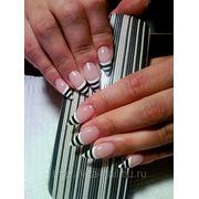 Наращивание ногтей:френч с удлинением фото