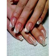 Наращивание ногтей: свадебный дизайн. фото