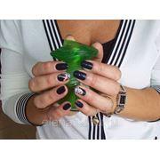 Покрытие ногтей гель - лаком нарощенных ногтей фото