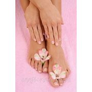 Педикюр с долговременным покрытием ногтей Shellac биогелем фото