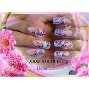Профессиональное наращивание ногтей, дизайн фото