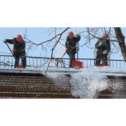 Уборка снега с крыш и кровли фото