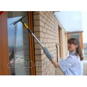 Мытье окон, фасадов, балконов. фото