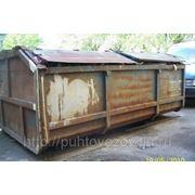 Вывоз бытового мусора контейнером 12м3 фото