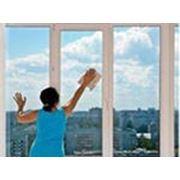 Мытье панорамного балкона. фото