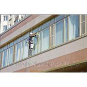 Высотная мойка окон / фасадов в Хабаровске