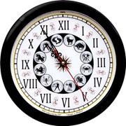 Часы настенные пластмассовые фото