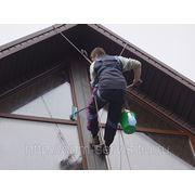 Мытье фасадов, витражей