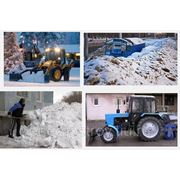 Уборка территории от снега. Очистка территории от снега фото