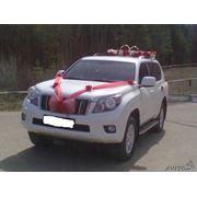 Автомобиль на прокат на свадьбу Toyota LC Prado white фото