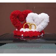 Прокат Свадебных украшений на машину фото