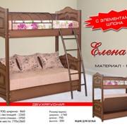 """Двухярусная детская кровать """"Елена-2"""" с металлической лестницей и выдвижными ящиками фото"""