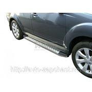 """Подножки боковые алюм. нерж. 70"""" Nissan Qashqai 2+ фото"""